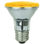 Sunlite 80010-SU PAR20/LED/2W/A,  2 Watt Amber LED PAR20 Flood Medium Base, 30,000 Hour, 80010,#80010,80010-SU,#80010-SU