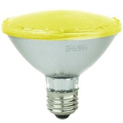 Sunlite 80025-SU PAR30/LED/3W/Y E26 Base, 3 Watt 100 Lumen YELLOW L.E.D. PAR30, 80025-SU, #80025-SU LED Yellow Bulb