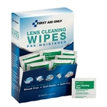 Lens Cleaning Wipes, 100/box, First Aid Only #90192, Lens Cleaning Tissues 100ct
