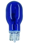 #918B BLUE MINIATURE BULB GLASS WEDGE BASE, T5 WEDGE 12.8V .56A 6.5CP PAINTED BLUE, 918B, 918 BLUE,#918 BLUE, #918B MINIATURE, #918B BULB, #918B LAMP, #918B INDICATOR, EIKO# 43305