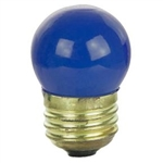 7-1/2S11/CBLUE/130V 7.5 WATT CERAMIC BLUE S11 E26 BASE, 7.5S11-CBLUE, CERAMIC BLUE S11, 7.5 S11 CERAMIC BLUE SIGN LAMP 130 VOLT MEDIUM BASE