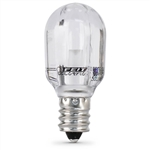 Feit Electric – BPT6/SU/LED T-6 Clear LED Bulb, LED T6 E-12 Base Bulb, Feit #BPT6/SU/LED, LED T-6 Bulb