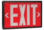 Betalux Tritium Exit Sign Red & Black 10 Year - BX-10-BK-S-RD, Self Luminous Tritium Exit Sign, 10 Year Single Sided Red Stencil Black Frame Betalux Tritium Self-Luminous Exit Sign, Betalux #BX-10-BK-S-RD