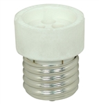 MEDIUM (E26) TO GU10/GZ-10 BASE PORCELAIN SOCKET ADAPTER,Satco #90-2433