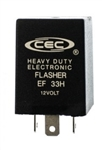 EF33H 12V 25A 3 Pin Heavy Duty Flasher, FSHEF33H Flasher, 224 Flasher, 44540 Flasher, EL12H Flasher, PM571 Flasher,  173 Flasher, 091209 Flasher, EF33H Automotive Flasher, EF33H Auto Flasher, CEC #EF33H Auto Flasher