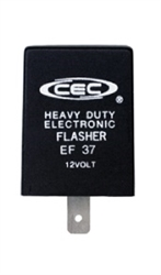 EF37 12V 12A 3 Pin Electronic Flasher, FSH7057 Flasher, 757 Flasher, 764 Flasher, FLR757 Flasher, EP33 Flasher, EP33 Flasher,EF37 Automotive Flasher, CEC# EF37 Flasher, EF37 Auto Flasher