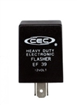EF39 12V 12A 3 Pin Electronic Flasher, 756 Flasher, 766 Flasher, FLR757 Flasher, EP32 Flasher, EFL7 Flasher, EP32 Flasher, EF39 Automotive Flasher, EF39 Turn Signal Flasher, EF39 Auto Flasher, CEC #EF39 Flasher, CEC EF39 Electronic Auto Flasher