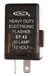 EF42 12V 45A 2 Pin Variable Load Flasher,FSH7220 Flasher, 764 Flasher, 44710 Flasher, FLR764 Flasher, EP50 Flasher,  PM576 Flasher, 282 Flasher, EP50 Flasher, CEC EF42 Flasher, EF42 Automotive Flasher, EF42 Auto Flasher,EF42 Electronic Flasher