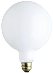 "100G40/WHT/130V/2M 100 WATT G40 5"" WHITE GLOBE E26 BASE, 100G40/W, 100G40/4MW, 100G40/W/RP, 100 WATT G40 5"" WHITE GLOBE MEDIUM BASE 130 VOLT, 14624, #14624"
