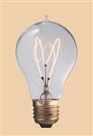 60A19/E26/VIC 120V 60 WATT 1890 CARBON FILAMENT A19 BULB E26 BASE, VICTORIAN REPLICA CARBON FILAMENT BULBS, CARBON FILAMENT LAMPS,  ANTIQUE STYLE LIGHT BULB, ANTIQUE STYLE LIGHT BULBS, ANTIQUE REPLICA LIGHT BULBS