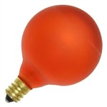 15G16-1/2E12/AMBER/130V AMBER DEEP COLOR GLOBE E12 BASE, AMBER G16.5 GLOBE, DEEP COLOR GLOBE BULB, DECORATIVE COLORED GLOBE BULBS, 15 WATT G16.5 AMBER GLOBE BULB CANDELABRA BASE