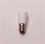 T5.5 36V-130V WHITE L.E.D. MINIATURE BULB E12 BASE, L.E.D., LED MINIATURE BULB, L.E.D. MINIATURE LAMP, L.E.D. REPLACEMENT MINIATURE BULB