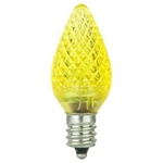 L.E.D. C7 YELLOW 120V E12 BASE, LED/C7/YELLOW, YELLOW LED C7, L.E.D. C-7 YELLOW