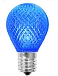 L.E.D. S11 BLUE 120V E17 BASE,LEDS11N/BLUE, BLUE S11N,LED S-11 BLUE