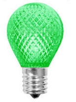 L.E.D. S11 GREEN 120V E17 BASE,LEDS11N/GREEN, GREEN S11N,LED S-11 GREEN