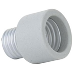 PSOCK - PORCELAIN MEDIUM TO MEDIUM SOCKET EXTENDER, E26 TO E26 PORCELAIN SOCKET EXTENDER, SOCKET EXTENDER,
