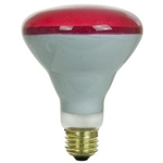 65BR30FL/RED/130V/5M 65 Watt Red BR30 Flood E26 Base, 65 Watt BR30 Red Flood Medium Base 130 Volt, Red Flood, Red Bulb, Colored Flood, Colored Floods, 65BR30FL-Red