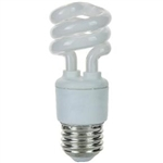 PL9SE/27K 9W 2700K MINI COIL LIGHT E26 BASE, SPIRAL BULB, COIL BULB, COIL, CFL, ENERGY SAVING BULB, FLUORESCENT RETROFIT