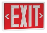 Tritium Exit Sign Red & White 20 Year 2 Sided  , SLXTU2RW20,SELF-POWERED EXIT, SELF LUMINOUS, TRITIUM EXIT SIGNS, NON ELECTRIC EXITS SIGNS, NON-ELECTRIC, GLOW IN THE DARK EXIT SIGNS, NUCLEAR EXIT SIGNS, RADIOACTIVE EXIT