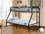 Donco 4502-BK Twin over Full Bunkbed