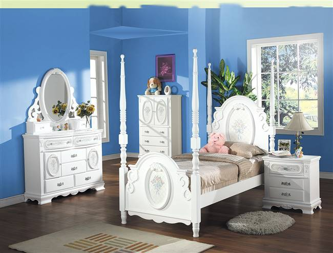 Acme 01660T Flora Twin Bed