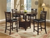 Coaster 5 PC SET:C H TABLE W/ 4 STOOLS