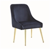 Coaster DINING CHAIR (DARK INK BLUE)