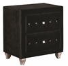 Coaster NIGHTSTAND (BLACK VELVET)