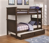 Coaster TWIN/TWIN BUNK BED (COUNTRY BROWN)