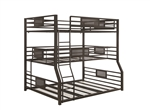 NJ Zone Item-For customers outside NJ-Coaster 460561 TRIPLE BUNK BED