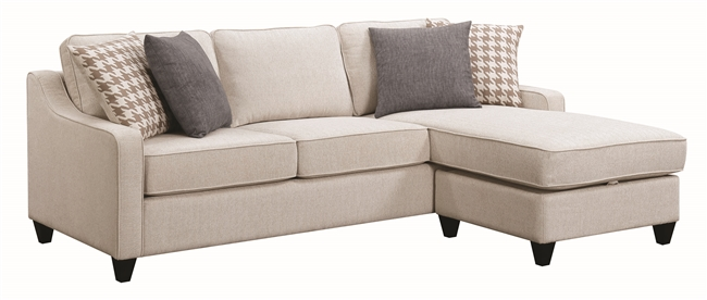 Florida Zone Item-Coaster 501170 SECTIONAL WITH STORAGE OTTOMAN