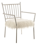 Coaster ACCENT CHAIR (WHITE)