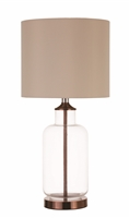 Coaster TABLE LAMP (CLEAR GLASS/BRONZE)