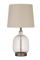 Coaster TABLE LAMP (CLEAR/BRUSHED NICKEL)