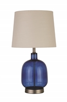 Coaster TABLE LAMP (BLUE/BRUSHED NICKEL)