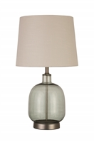 Coaster TABLE LAMP (GREEN/BRUSHED NICKEL)