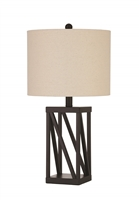 Coaster TABLE LAMP (BLACK)