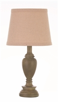 Coaster TABLE LAMP (LIGHT FAUX WOOD)