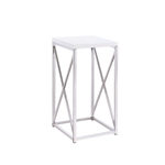 Coaster ACCENT TABLE (GLOSSY WHITE)