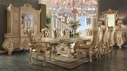 Homey Design HD-7266-DT Table+2ARM+4ChairS