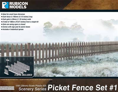 283002 - 28mm Picket Fence Set #1
