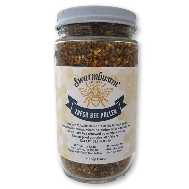 Dark Summer & Fall Bee Pollen - 8 oz Jar