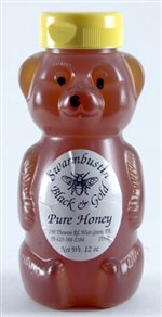 Black & Gold Honey - 12 oz. Honey Bear