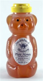 Blueberry Flavored Honey - 12 oz. Honey Bear