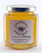 Golden Nectar Honey - 14 oz. Hex Jar