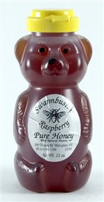 Raspberry Flavored Honey - 12 oz. Honey Bear
