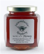 Raspberry Flavored Honey - 14 oz. Hex Jar