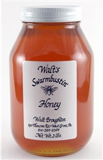Raspberry Flavored Honey - 3 lb. Quart