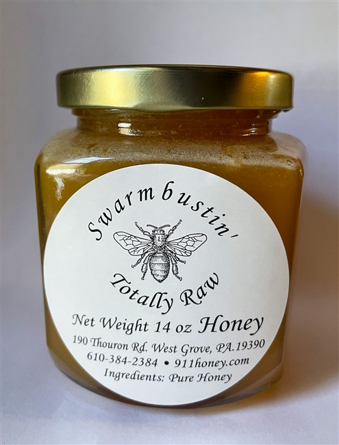 Totally Raw Honey - 14 oz. Hex Jar