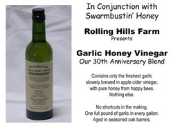Rolling Hills Garlic Honey Vinegar